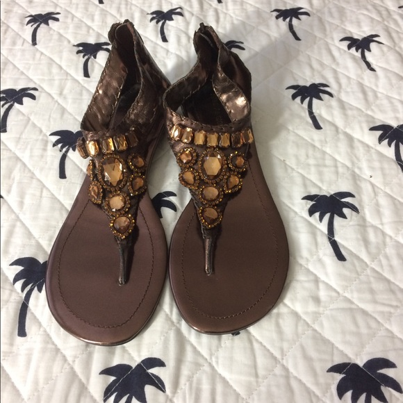 Enzo Angiolini Shoes - Jeweled Gladiator Sandals